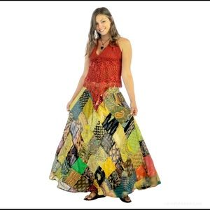 Gypsy Rose Mariposa Patchwork Skirt M/L